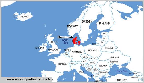 copenhague localisation carte monde